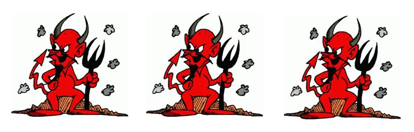 tres dimonis peluts