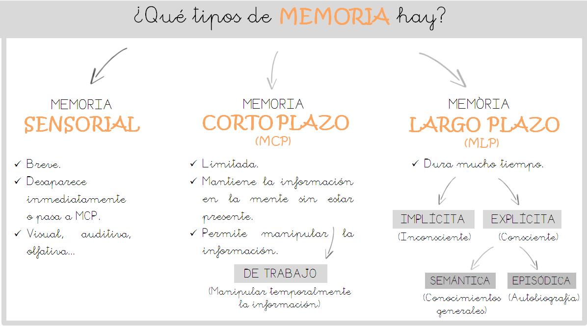 ESQUEMA TIPOS MEMORIA